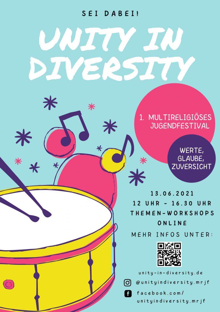 SAVE THE DATE: 1. Multireligiöses Jugendfestival Berlins am 13.06.2021!