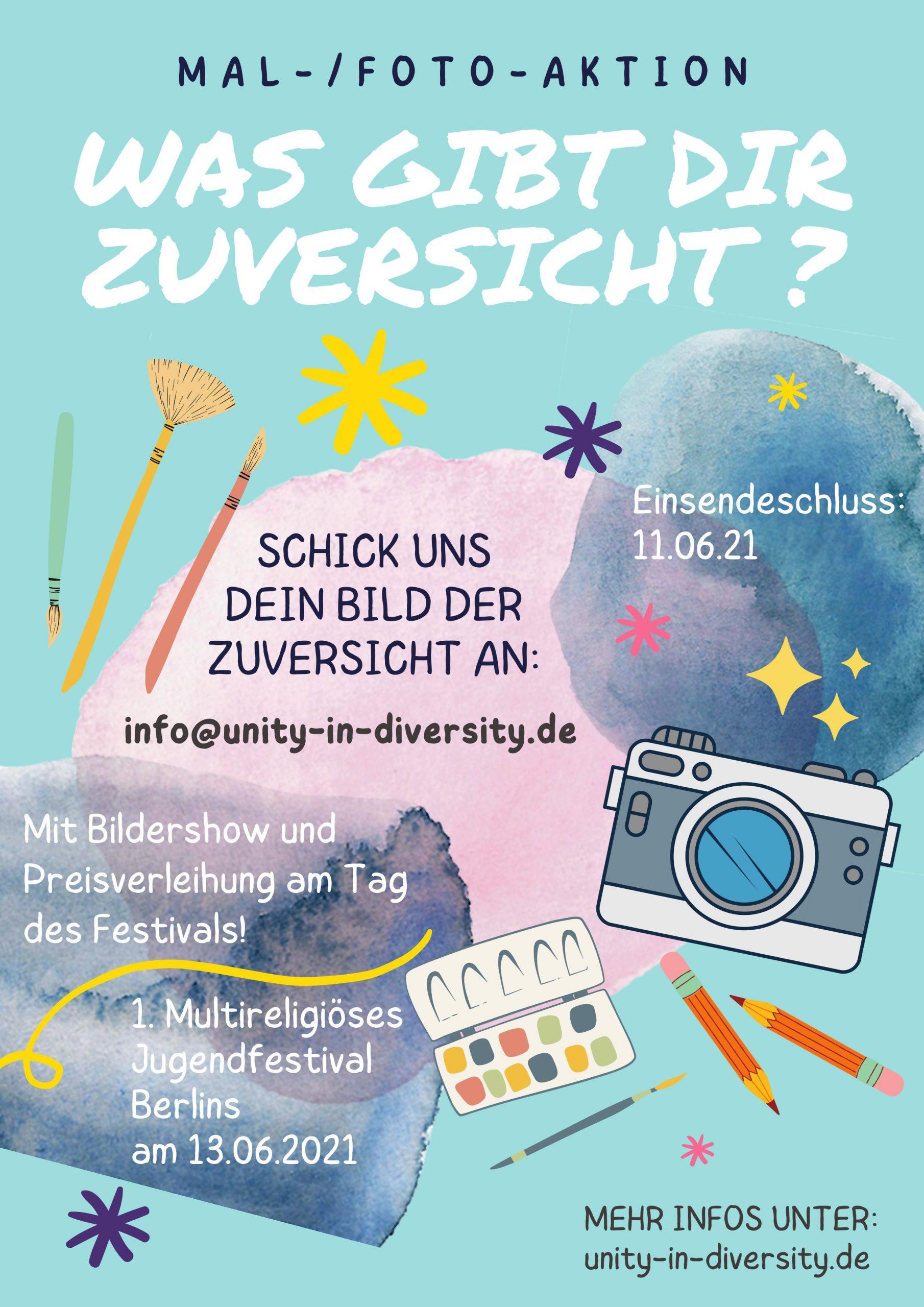 Read more about the article Mal- und Fotoaktion für das 1. Multireligiöse Jugendfestival!