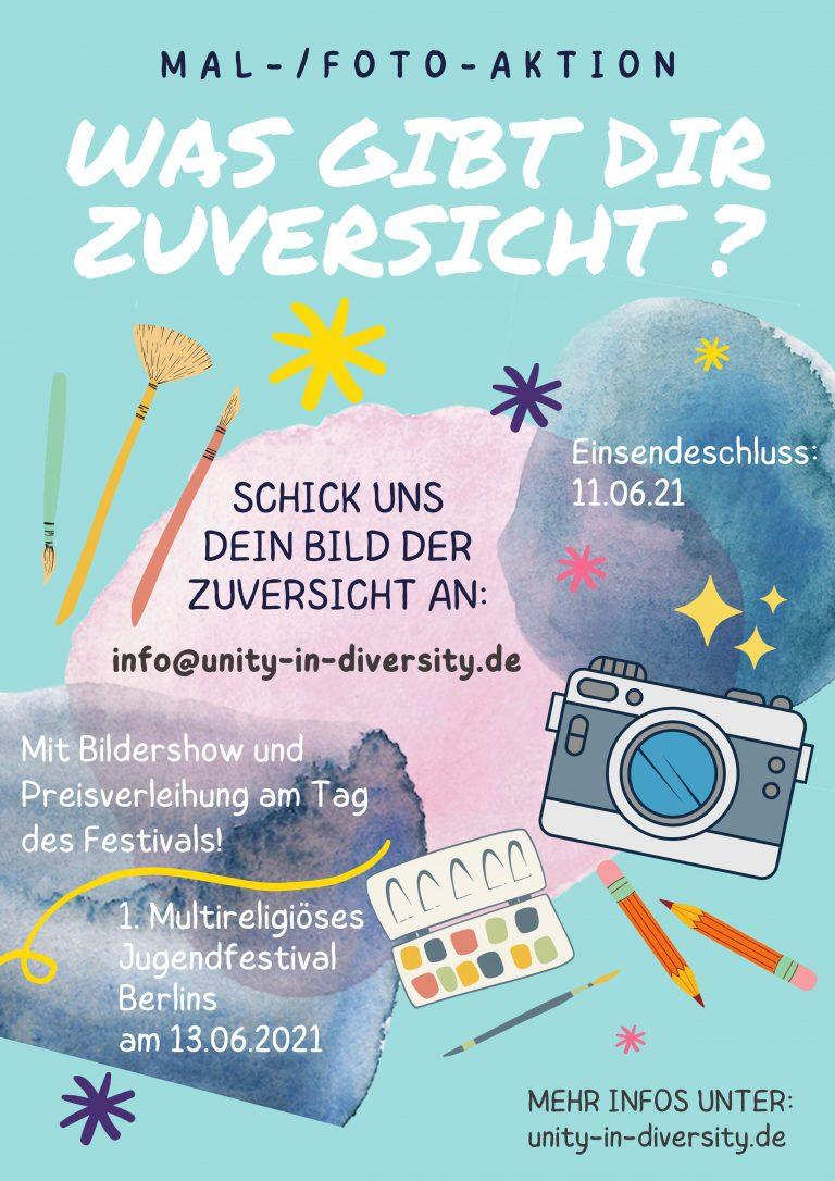 Mal- und Fotoaktion für das 1. Multireligiöse Jugendfestival!